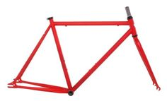 Fixed Gear Bike Frames - Vilano Chromoly Fixed Gear Track Road Bike Frame and Fork Set Red 58cmMedium >>> Click image for more details.