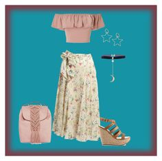 Peasant Hobo Outfit by rebecca-shosey on Polyvore featuring Miss Selfridge, ALDO and T-shirt & Jeans