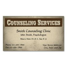 196 Best Mental Health Counselor Business Cards Images On Pinterest