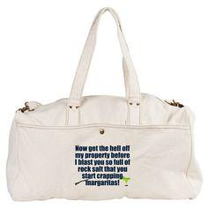 Demons Beware! Duffel Bag on CafePress.com