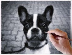 DIY Art: Paint by Pixel. Free online app to turn your pictures into pixel grids for painting. The site sells paint sets to accommodate the grids they will generate for you for free.