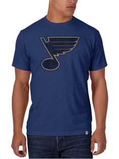 St. Louis Blues 47 Brand Bleacher Blue Soft Cotton Scrum T-Shirt 27a8e628899e