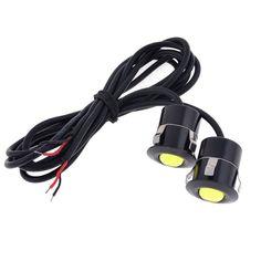 Unique Bargains 2 x Yellow Eagle Eye LED Backup Lamp Daytime Driving Lights DC 12V 1W for Car