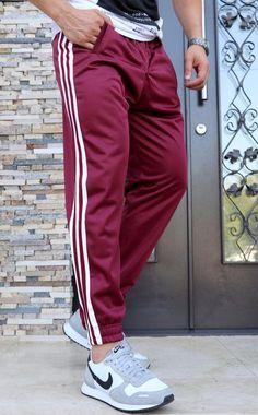 Pantaloni Trening `3 STRIPES` - GRENA (Cod: JOG07) - haine barbati Parachute Pants, Sports, Collection, Fashion, Hs Sports, Moda, Fashion Styles, Sport, Fashion Illustrations