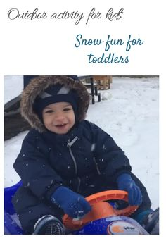 The snow puts a smile on everyone's face Toddler Fun, Toddler Activities, Snow Fun, First Snow, Cool Kids, Toddlers, Crochet Hats, Smile, Creative