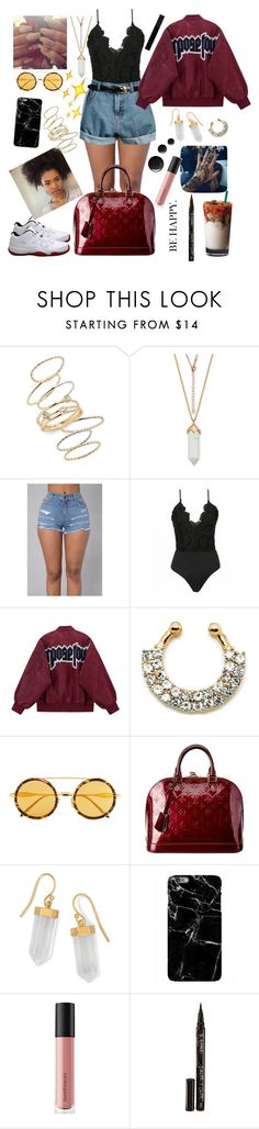 """""""Tattoo,piercing and she just learn to twerk🍒🌹"""" by raven-so-cute ❤ liked on Polyvore featuring Retrò, BP., Wildfox, Louis Vuitton, BillyTheTree, Bare Escentuals, Smith & Cult and Gucci"""