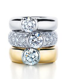 Tiffany Etoile Rings (I especially love the middle one - Pave)