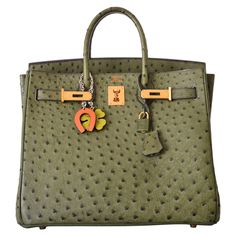 17k HERMES BIRKIN BAG HAC 32cm VERT VERONESE OSTRICH GOLD HARDWARE JaneFinds | From a collection of rare vintage top handle bags at https://www.1stdibs.com/fashion/handbags-purses-bags/top-handle-bags/
