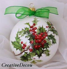Haz tus propias esferas navideñas para el árbol de navidad ~ lodijoella