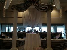 Garden By The Bay Ballroom hilton garden inn perrysburg, ohio inside wedding ceremony