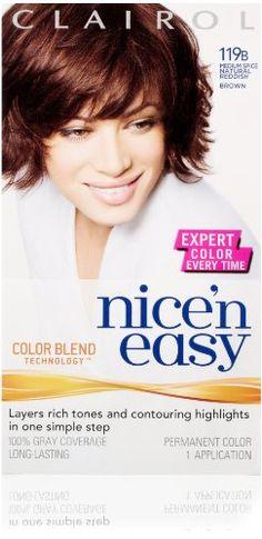 Clairol Nice 'N Easy Hair Color Medium Spice 1 Kit (Pack of Best Hair Dye, Easy Hair, Reddish Brown, Color Blending, Dyed Hair, Hair Care, Spices, Hair Color, Kit