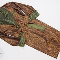 Custom Made Mens Dressing Gown Gold Green Paisley Jacquard Silk Smoking Jacket Robe Quilted Shawl Collar Luxury Classic Housecoat Loungewear