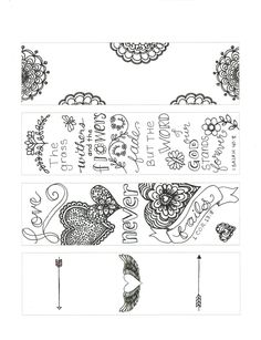 Luke 10-13 Color Your Own Bookmarks Bible Journaling