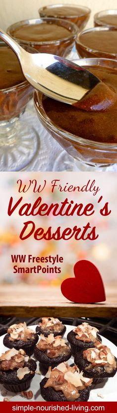 Favorite Weight Watchers Friendly Valentine's Dessert Recipe Roundup - All recipes with WW Freestyle SmartPoints gathered from your favorite sites including SkinnyTaste, EmilyBites, Simple-Nourished-Living and more...  Get the recipes: https://snl.recipes/2Ep00Xi