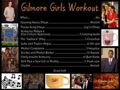 an alternate gilmore girls workout LOL way too many of these exist for me not to try it once