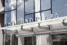 Architectural canopy lettering design