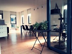 the living | dining | working space