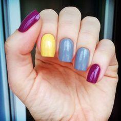 opi pamplona purple + mavala lemon cream + серый ga-de