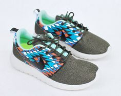 Custom Hand Painted Nike Roshe Run - Tribal Pattern