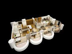 Floor plan of Two bedroom Suite