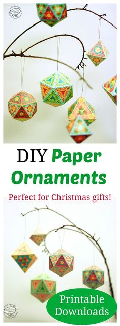 These paper ornaments look like a fun craft to do with friends or family.  Just 1cc8dafe5d