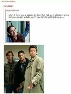Supernatural [I would say Jack Harkness from Doctor Who/Torchwood counts, as far as bisexual characters go...]