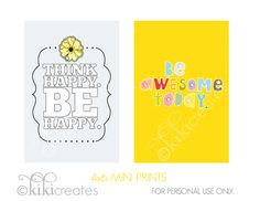 4×6 mini prints: To be yourself {Limited Free Printable}