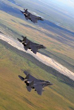 Korean Air Force F-15K fighter jets.