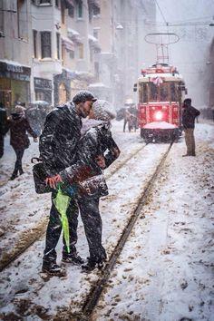 Istanbul İstiklal'de aşk