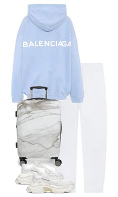 A fashion look from November 2017 featuring balenciaga top, slim fit sweat pants and balenciaga trainers. Browse and shop related looks. Cute Swag Outfits, Classy Outfits, Stylish Outfits, Vintage Outfits, Look Fashion, Trendy Fashion, Korean Fashion, Kpop Fashion Outfits, Mode Outfits