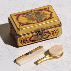 Limoges box...the brush and comb!