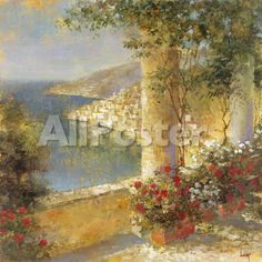 Italian Retreat II by Kevin O'Brien Landscapes Giclee Print - 41 x 41 cm