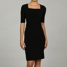 incredible fully-pleated belted London Times Dress