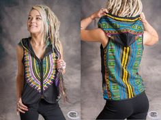 Womens Waistcoat Psytrance Aztek Pixie Fairy by WobbleandSqueak