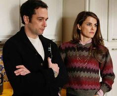 "Matthew Rhys and Keri Russell as undercover Soviet spies Phillip and Elizabeth Jennings on ""The Americans."" Photo: FX"