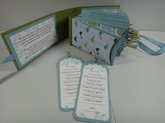 """ScrappinStamper: Baby Wishes Book """"I wish"""" for everyone at a baby shower then they slip into an envelope in the book.   Wouldn't this be great for graduation?"""