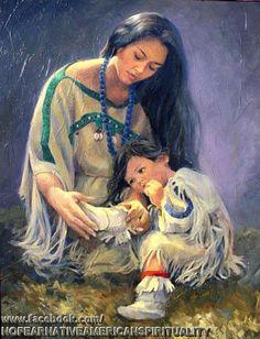 .Amérindienne et son enfant <3 <3 <3