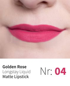Golden Rose Longstay Liquid Matte Lipstick 04