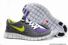 Nike Free Run Womens 395912-101 Black Purple Green Online