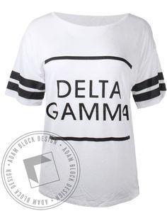 Delta Gamma Striped Sleeve Tshirt by Adam Block Design