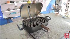 Mini Grill, Bbq Grill, Grilling, Gas Bottle Bbq, Diy Wood Stove, Custom Bbq Pits, Metal Bender, Wood Block Crafts, Diy Tank