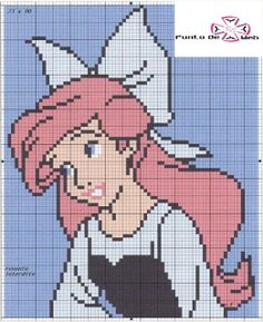 cross stitch Ariel
