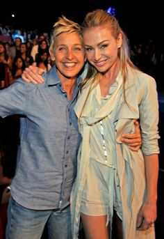 Pin for Later: Ellen DeGeneres and Portia de Rossi Have the Look of Love Down  The duo showed loved during the August 2009 Teen Choice Awards in LA.