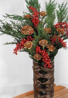 Natural Cedar Wood Roses