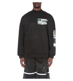 ASTRID ANDERSEN Printed neoprene sweatshirt
