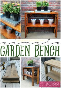 Craftaholics Anonymous® | Simple Garden Bench