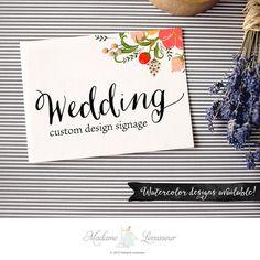 custom wedding signs design floral wedding designs wedding signage thank you note wedding design wedding monogram wedding logo design