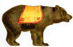 Vintage Circus Clip Art - Bear - The Graphics Fairy