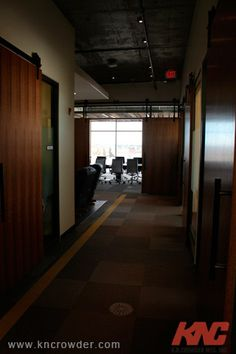 CFT-202-BP Sliding Door Kit is used here in an office building (Calgary, Alberta)
