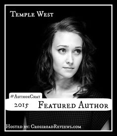 Join #AuthorChat May 23 at 3pm ET to #Chat it up with #Author @ByTempleWest while we talk about her #book Velvet!